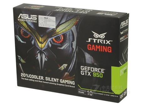 华硕猛禽STRIX GTX 950显卡安徽售1293元
